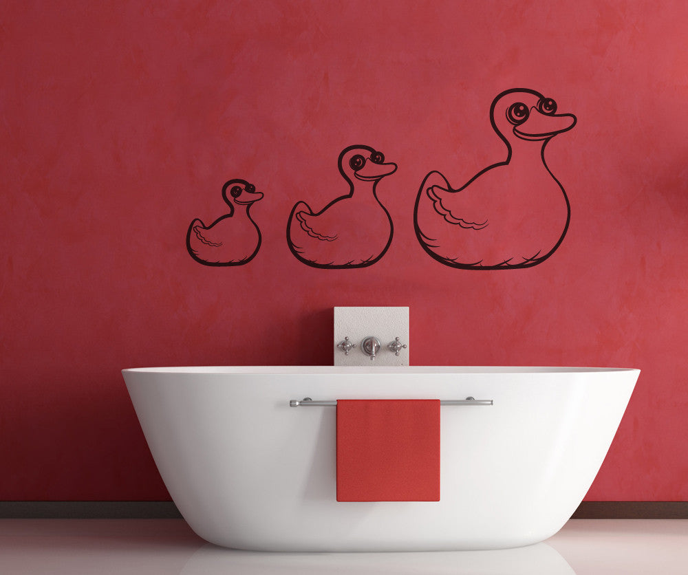 Vinyl Wall Decal Sticker Rubber Duckies Os Mb323