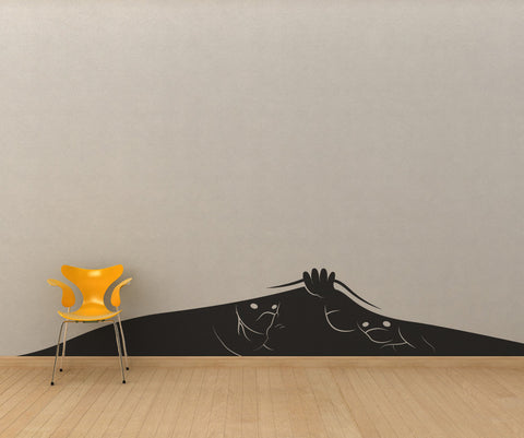 Vinyl Wall Decal Sticker Hiding Ninjas #OS_MB259