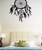 Vinyl Wall Decal Sticker Feather Dream Catcher #OS_MB364