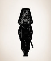 Vinyl Wall Decal Sticker Ninja Under Lampshade #OS_MB258