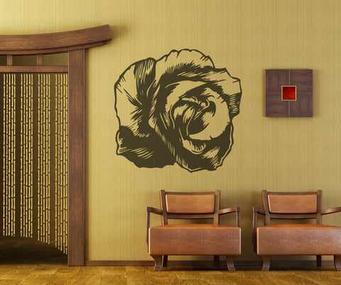 Vinyl Wall Decal Sticker Bloomed Rose #OS_MB406