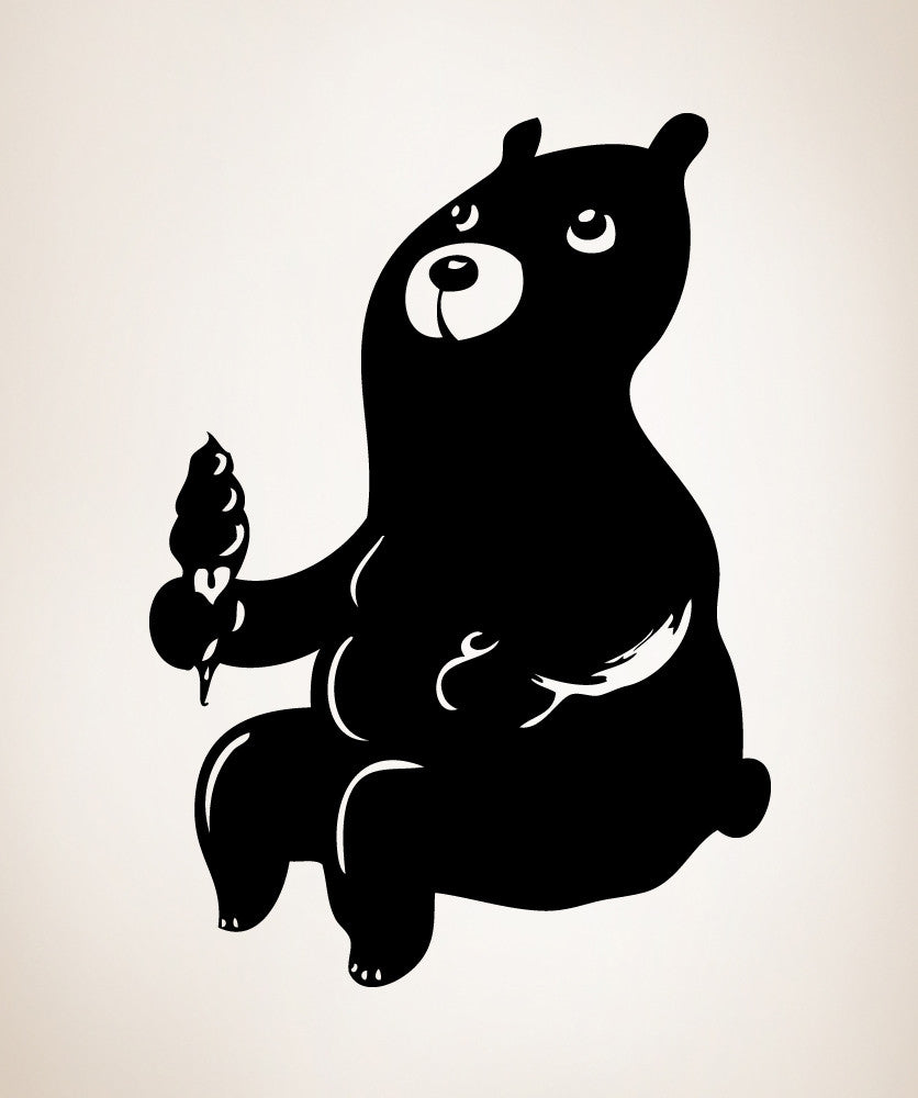 Vinyl Wall Decal Sticker Ice Cream Bear #OS_MB408