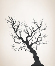 Vinyl Wall Decal Sticker Solid Musical Tree #OS_MB448
