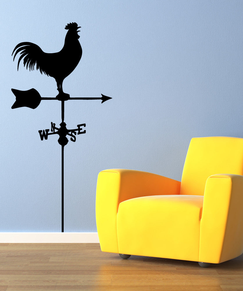 Vinyl Wall Decal Sticker Rooster Wind Dial Os Mb548