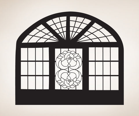 Vinyl Wall Decal Sticker Floral Window #OS_MB244