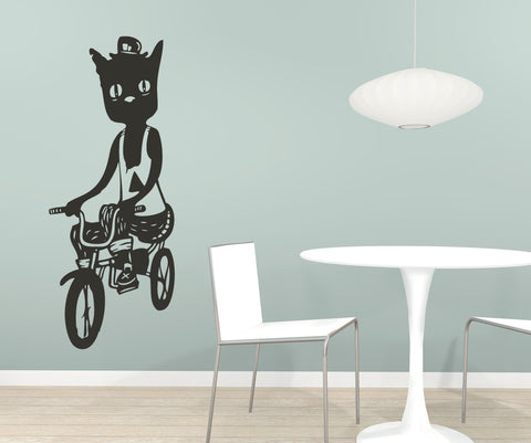 Vinyl Wall Decal Sticker Hipster Cat #OS_MB410