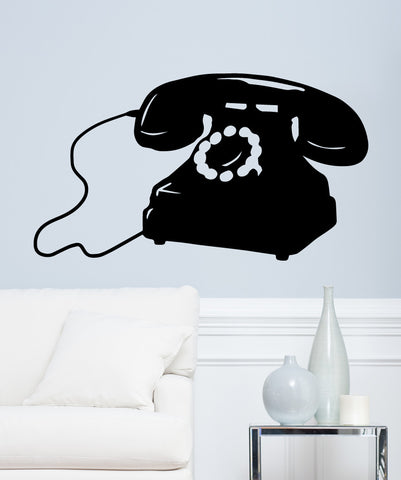 Vinyl Wall Decal Sticker Rotary Dial Phone #OS_MB552