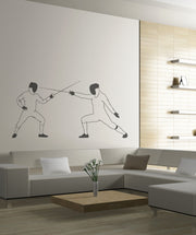 Vinyl Wall Decal Sticker Fencing Dual #OS_MB556