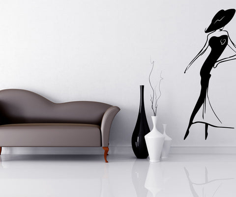 Vinyl Wall Decal Sticker Sophisticated Lady #OS_MB497