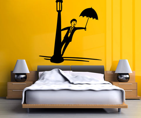 Vinyl Wall Decal Sticker Singing in the Rain #OS_MB500