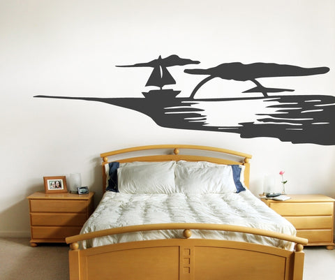 Vinyl Wall Decal Sticker Ocean Sunset #OS_MB503