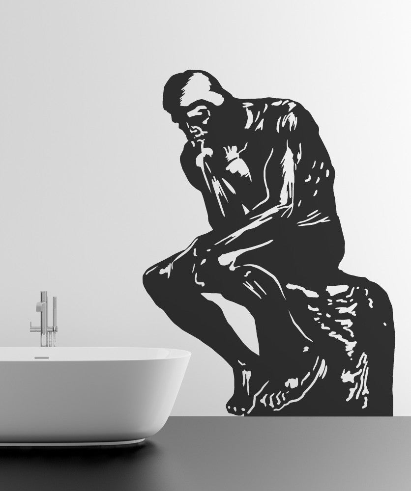 Vinyl Wall Decal Sticker The Thinker #OS_MB564
