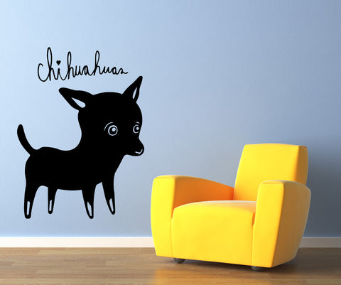 Vinyl Wall Decal Sticker Chihuahuas #OS_MB505