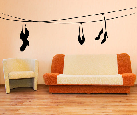 Vinyl Wall Decal Sticker Socks on the Line #OS_MB508