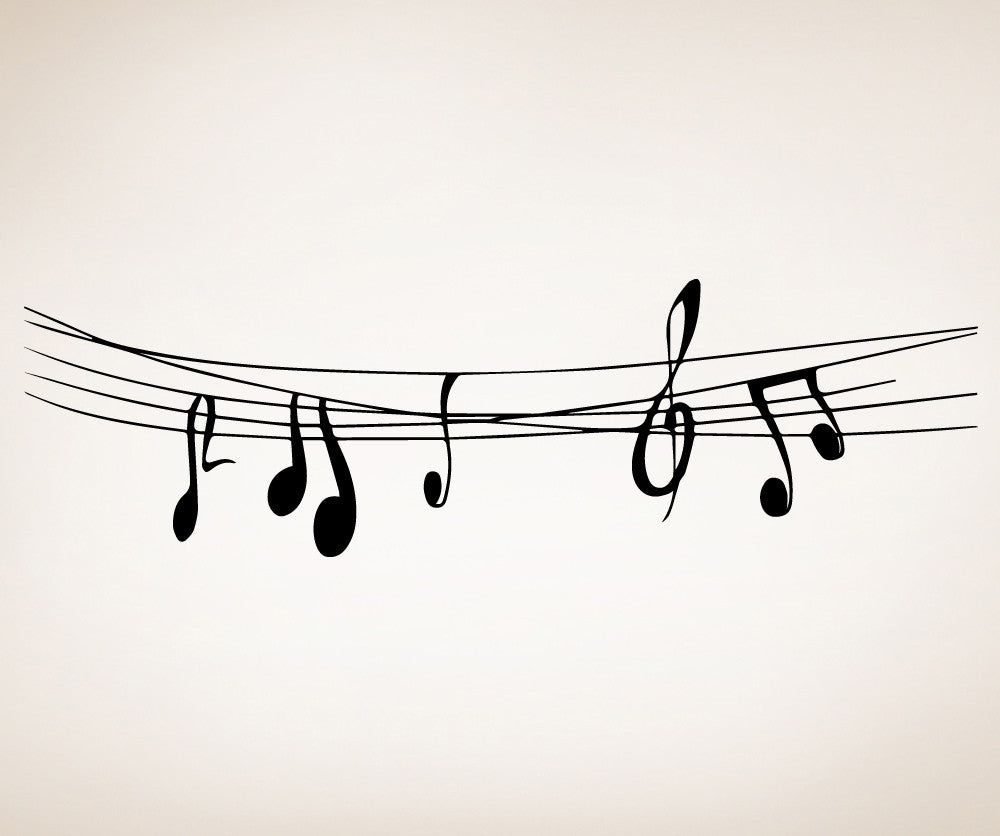 Vinyl Wall Decal Sticker Musical Notes #OS_MB510