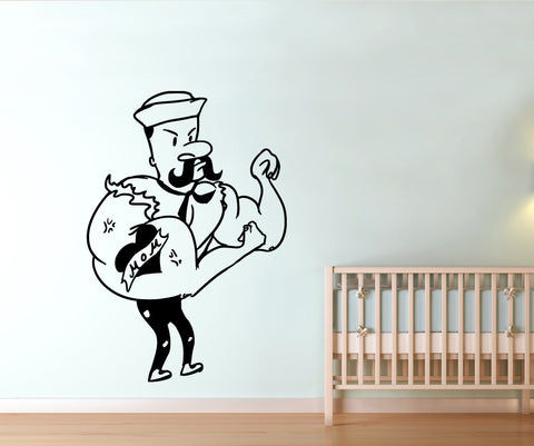 Vinyl Wall Decal Sticker I Love Mom Sailor #OS_MB570
