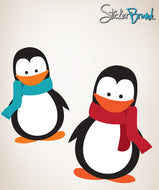 Graphic Wall Decal Sticker Cute Baby Penguins #861