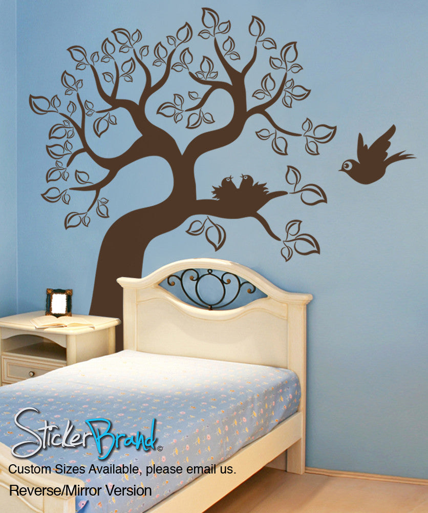 Vinyl Wall Decal Sticker Bird and Tree #OS_ES102