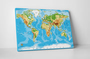 World Map Canvas: by APE CANVAS #C101