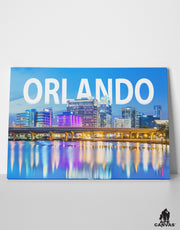 Downtown Orlando Florida Skyline Canvas: by APE CANVAS C106