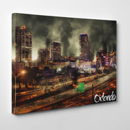 Apocalypse Vision of Orlando Florida Skyline Canvas #C107
