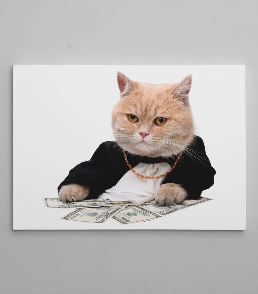 The Godfather Boss Cat Canvas By Ape Canvas C109