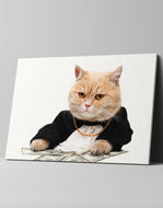 The Godfather Boss Cat Canvas: by APE CANVAS #C109