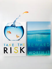 Take The Risk Motivational Quote Canvas #C115