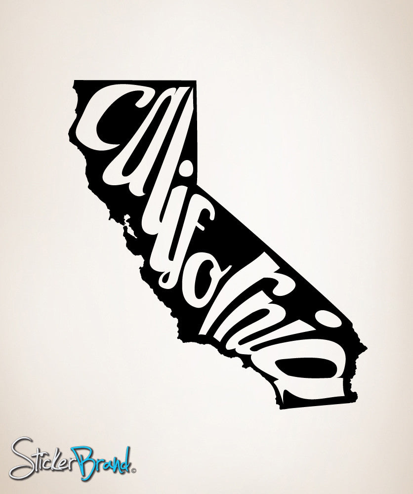 Vinyl Wall Decal Sticker California State #OS_MB169
