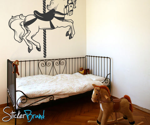 Vinyl Wall Decal Sticker Carousel Horse #OS_MB186