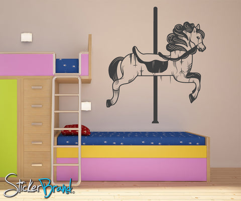 Vinyl Wall Decal Sticker Carousel Horse #OS_MB179