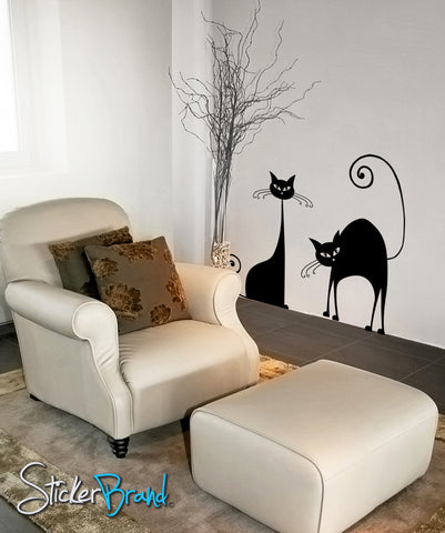 Vinyl Wall Decal Sticker Classic Cats item #OS_AA101