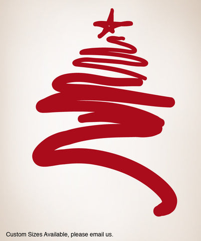 Vinyl Wall Decal Sticker Christmas Tree #863