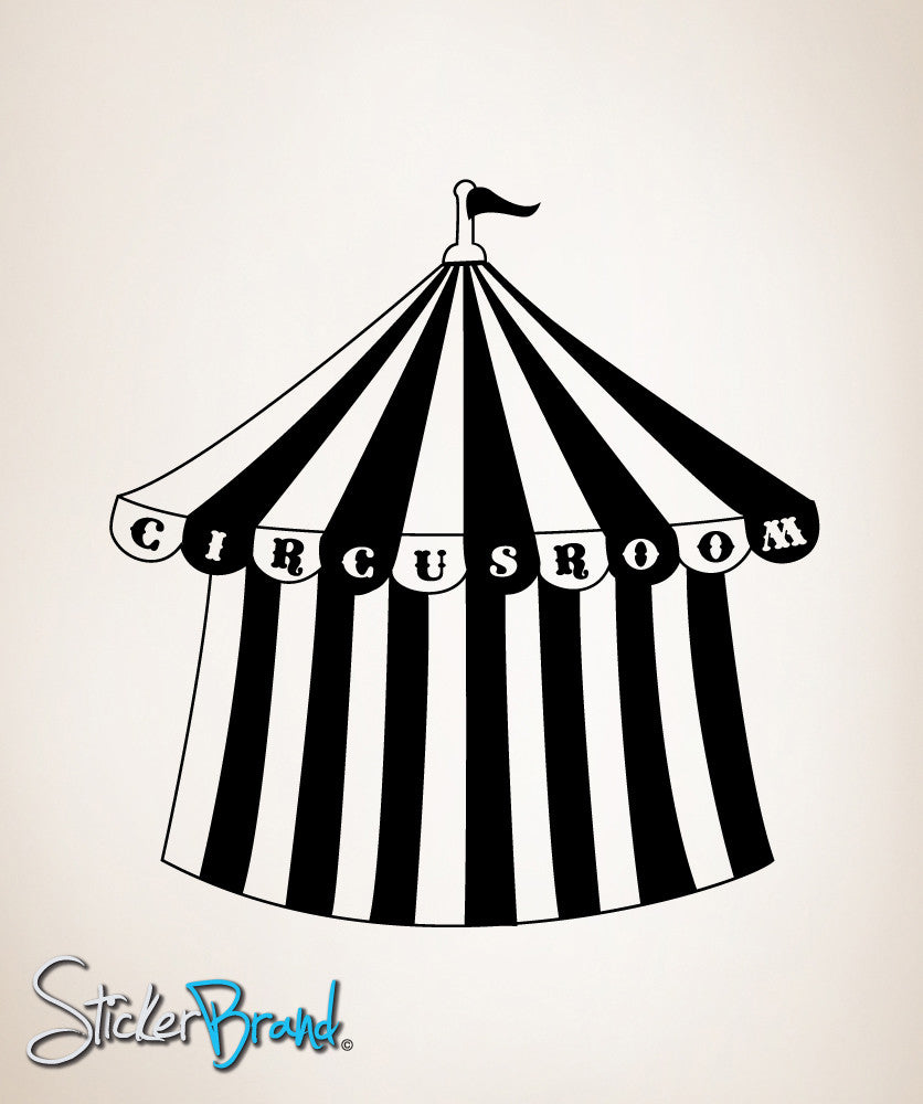 Vinyl Wall Decal Sticker Circus Tent Room #OS_MB185