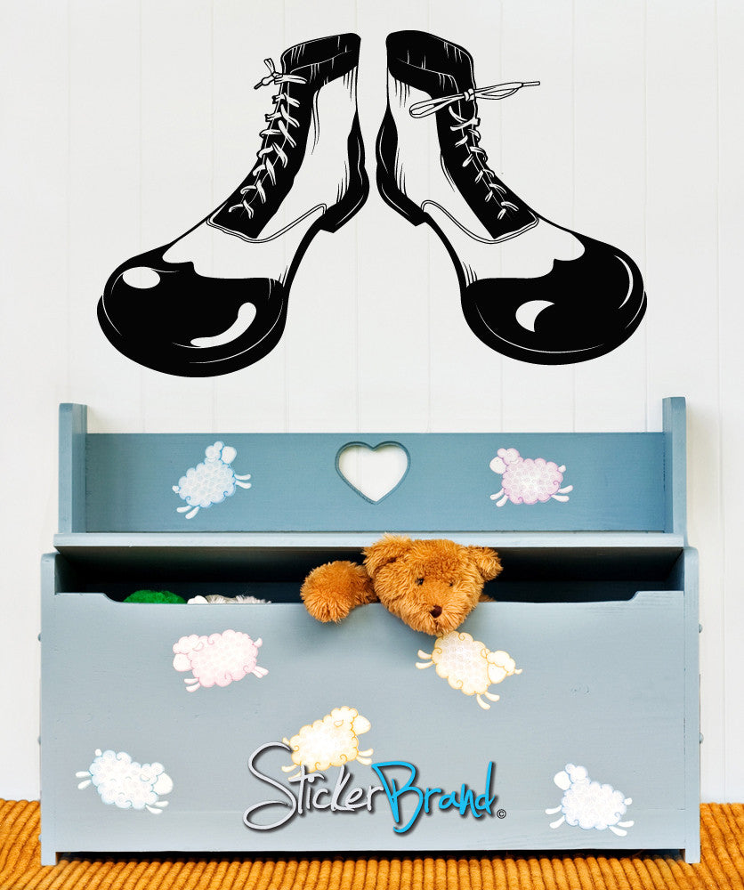 Vinyl Wall Decal Sticker Circus Clown Shoes #OS_MB176