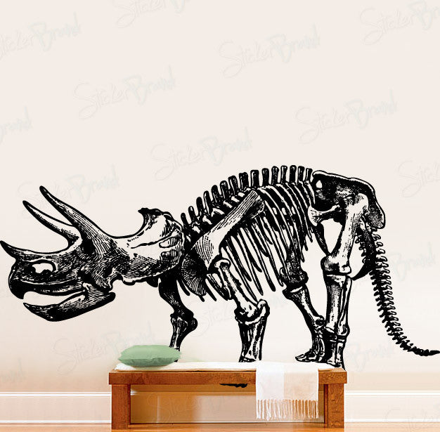 Vinyl Wall Decal Sticker Dinosaur Triceratops Bones 452