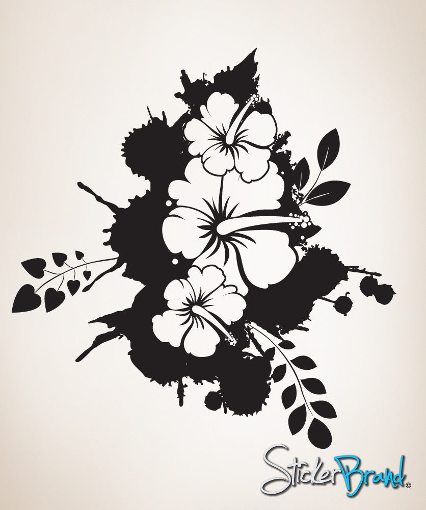 Vinyl Wall Decal Sticker Flower Splat Art  #360