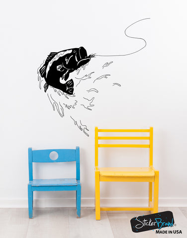 Bass Fishing Vinyl Wall Decal. #GFoster101