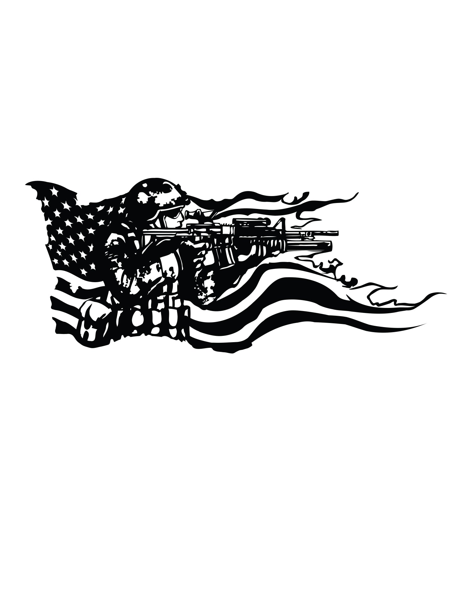 american flag wall decal soldier wall decal stickerbrand