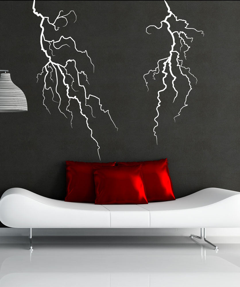 Lightning Bolt Wall Decal Lightning Wall Stickers