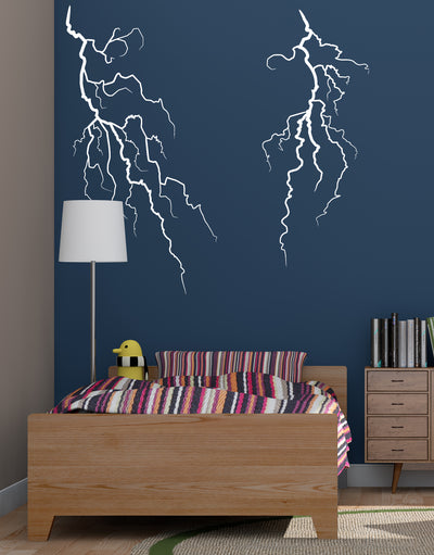 Double Lightning Bolt Wall Decal. #GFoster165