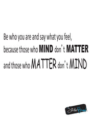 Vinyl Wall Decal Sticker Mind and Matter Quote #GFoster182