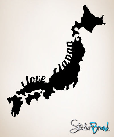 Vinyl Wall Decal Sticker I Love Japan #OS_MB181