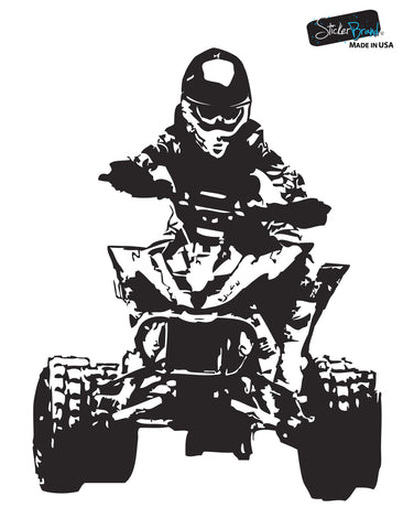 Racing Quad Bike Wall Decal. 4 Wheeler. Xtreme Sports. #JH241
