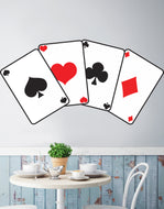 Casino Poker Cards Printed Graphic Decal Sticker. Peel and Stick. #JH280P