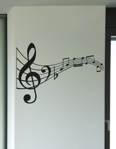 Vinyl Wall Decal Sticker Music Notes #KRiley125