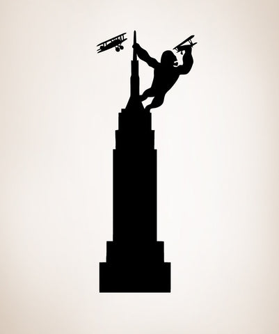 Vinyl Wall Decal Sticker King Kong on Empire State ...