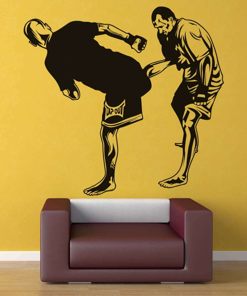 Vinyl Wall Decal Sticker MMA Side Kick Pose #5200