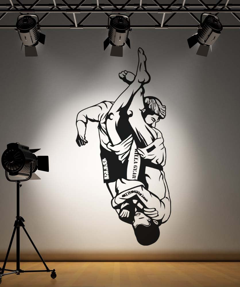 Vinyl Wall Decal Sticker MMA Arm Bar Grappling Move #5202