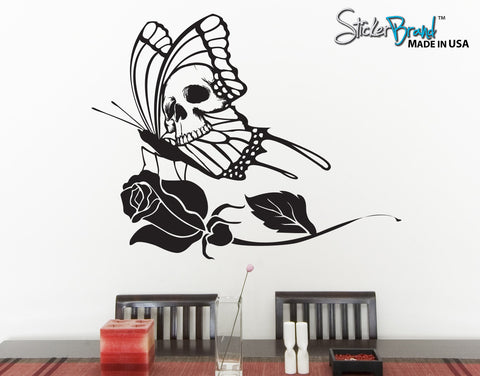 Wall Vinyl Decal Sticker Skull Fly #MMartin142